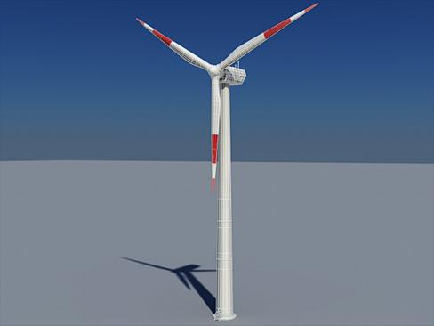 wind turbine land 3d model 3ds max lwo obj 158807