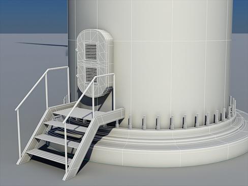 wind turbine land 3d model 3ds max lwo obj 158808