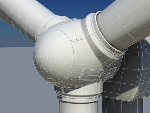 wind turbine land 3d model 3ds max lwo obj 158809
