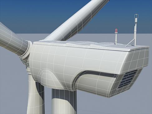 wind turbine land 3d model 3ds max lwo obj 158810