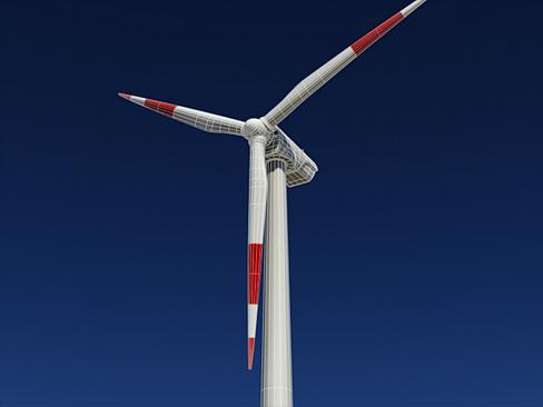 wind turbine land 3d model 3ds max lwo obj 158811