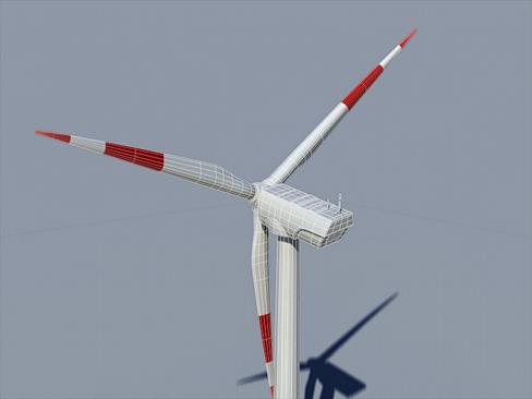 wind turbine land 3d model 3ds max lwo obj 158812
