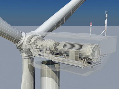 wind turbine land 3d model 3ds max lwo obj 158813