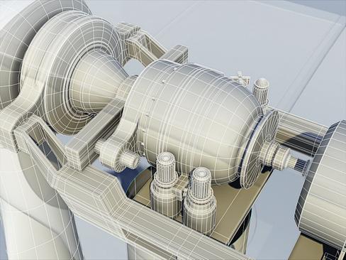 wind turbine land 3d model 3ds max lwo obj 158815