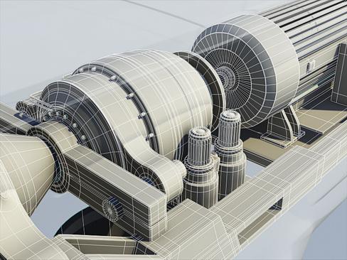 wind turbine land 3d model 3ds max lwo obj 158816