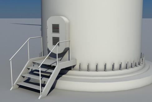 vēja turbīnu zeme reālā laikā 3d modelis 3ds max c4d lwo ma mb obj 158818