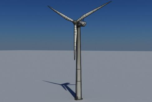 vēja turbīnu zeme reālā laikā 3d modelis 3ds max c4d lwo ma mb obj 158824