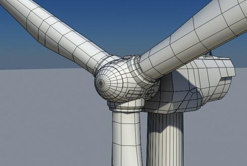 vēja turbīnu zeme reālā laikā 3d modelis 3ds max c4d lwo ma mb obj 158826