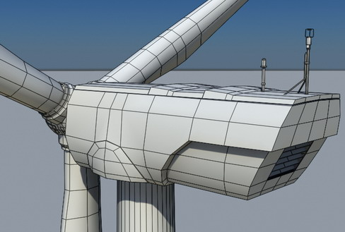 vēja turbīnu zeme reālā laikā 3d modelis 3ds max c4d lwo ma mb obj 158827