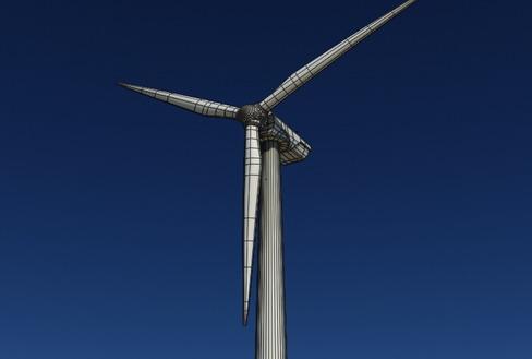 vēja turbīnu zeme reālā laikā 3d modelis 3ds max c4d lwo ma mb obj 158828