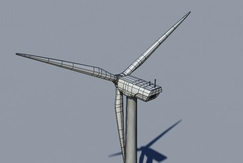 vēja turbīnu zeme reālā laikā 3d modelis 3ds max c4d lwo ma mb obj 158829