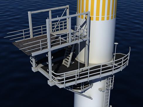 wind turbine offshore 3d model 3ds max lwo obj 158832