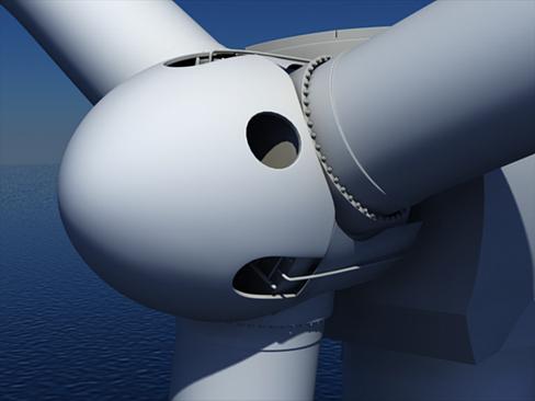 wind turbine offshore 3d model 3ds max lwo obj 158833
