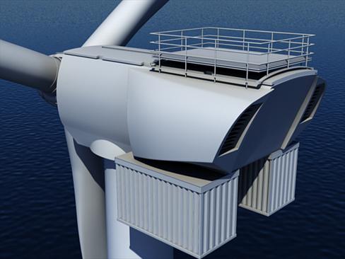 wind turbine offshore 3d model 3ds max lwo obj 158834