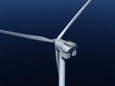 wind turbine offshore 3d model 3ds max lwo obj 158836