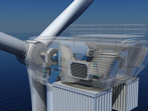 wind turbine offshore 3d model 3ds max lwo obj 158837