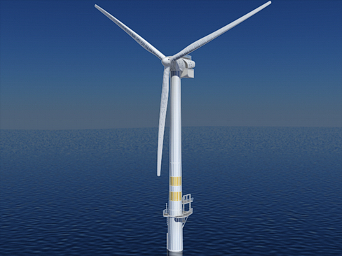 wind turbine offshore 3d model 3ds max lwo obj 158841