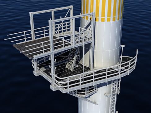 wind turbine offshore 3d model 3ds max lwo obj 158842