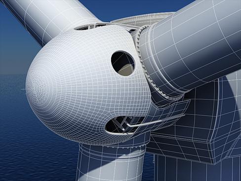 wind turbine offshore 3d model 3ds max lwo obj 158843