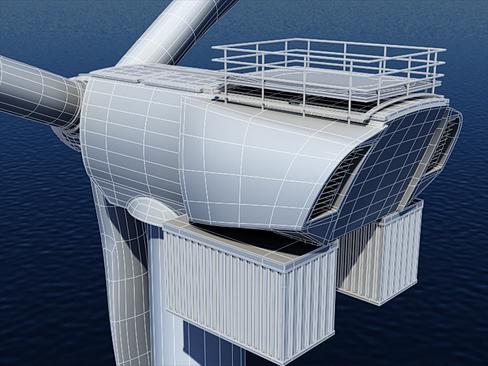 wind turbine offshore 3d model 3ds max lwo obj 158844
