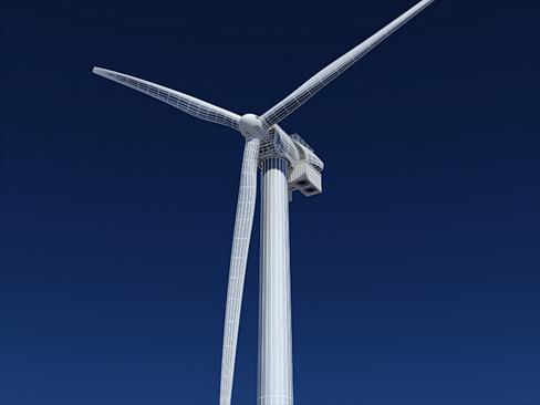 wind turbine offshore 3d model 3ds max lwo obj 158845