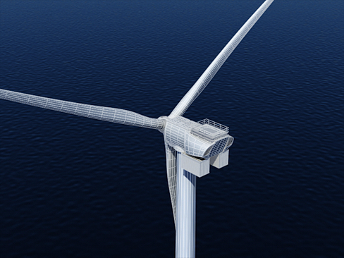 wind turbine offshore 3d model 3ds max lwo obj 158846