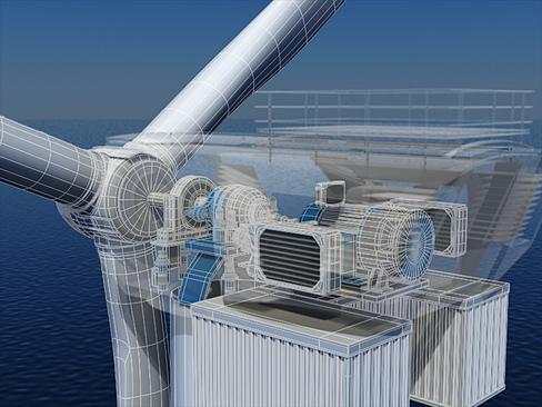 wind turbine offshore 3d model 3ds max lwo obj 158847