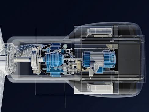 wind turbine offshore 3d model 3ds max lwo obj 158848