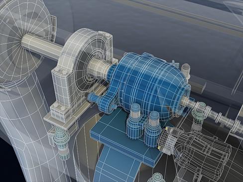 wind turbine offshore 3d model 3ds max lwo obj 158849