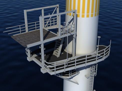 wind turbine offshore realtime 3d model 3ds max c4d lwo ma mb obj 158852