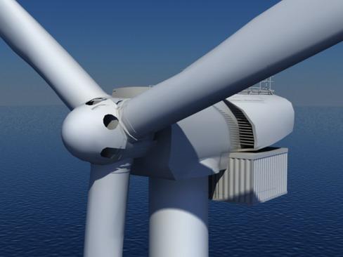 wind turbine offshore realtime 3d model 3ds max c4d lwo ma mb obj 158853