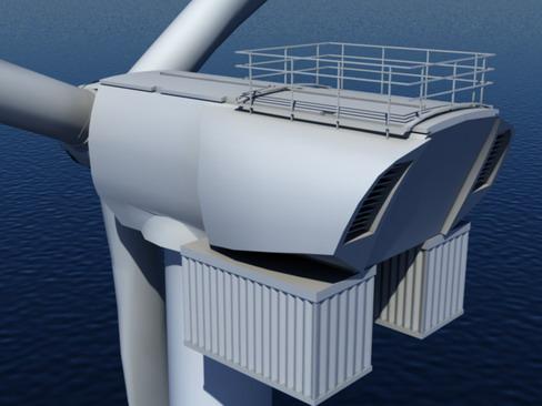 wind turbine offshore realtime 3d model 3ds max c4d lwo ma mb obj 158854