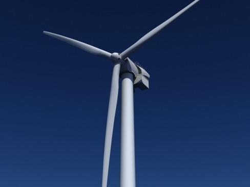wind turbine offshore realtime 3d model 3ds max c4d lwo ma mb obj 158855
