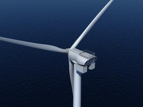 wind turbine offshore realtime 3d model 3ds max c4d lwo ma mb obj 158856