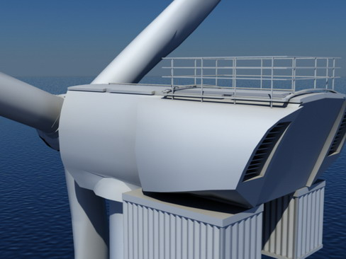 wind turbine offshore realtime 3d model 3ds max c4d lwo ma mb obj 158857
