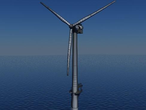wind turbine offshore realtime 3d model 3ds max c4d lwo ma mb obj 158858
