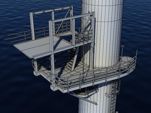 wind turbine offshore realtime 3d model 3ds max c4d lwo ma mb obj 158859