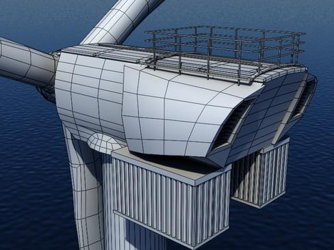 wind turbine offshore realtime 3d model 3ds max c4d lwo ma mb obj 158861