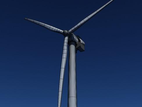 wind turbine offshore realtime 3d model 3ds max c4d lwo ma mb obj 158862