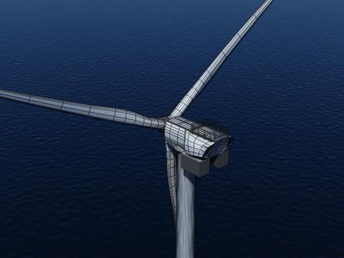 wind turbine offshore realtime 3d model 3ds max c4d lwo ma mb obj 158863