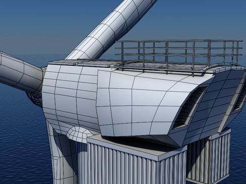wind turbine offshore realtime 3d model 3ds max c4d lwo ma mb obj 158864