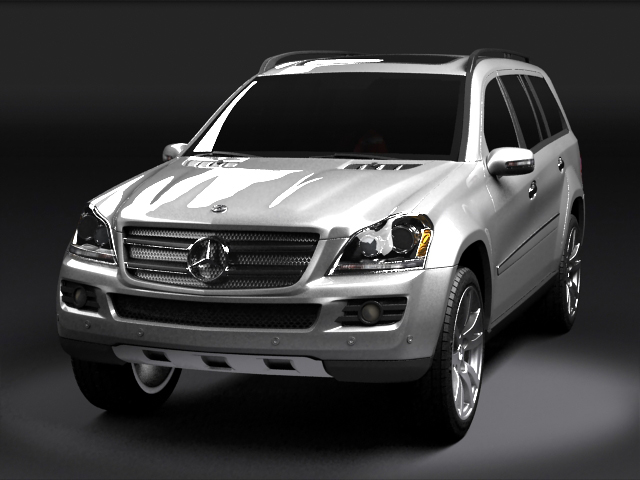 mercedes benz gl 3d model 3ds max obj 126509