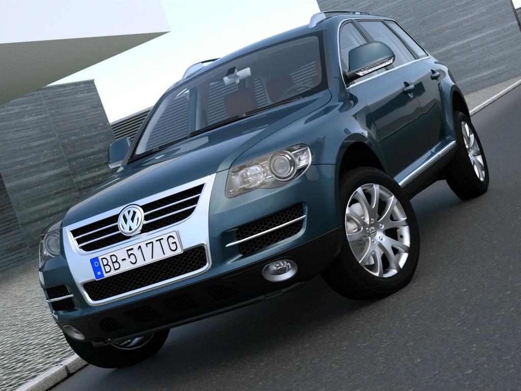 volkswagen touareg (2008) 3d model 3ds max fbx c4d obj 87073