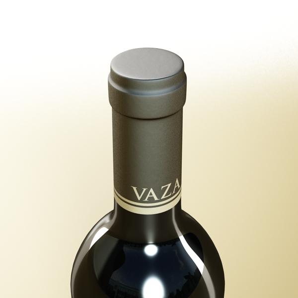 6 vínflaska og 6 víngleraugu 3d líkan 3ds max fbx obj 145649