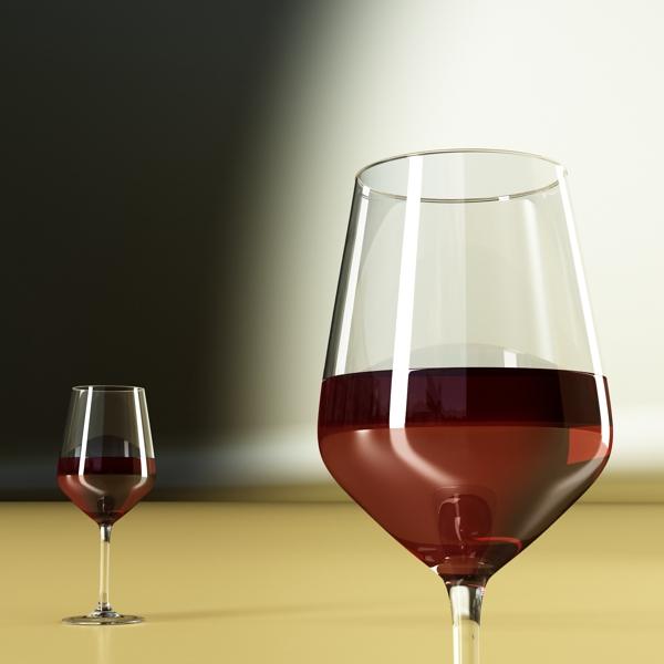 6 vínflaska og 6 víngleraugu 3d líkan 3ds max fbx obj 145655