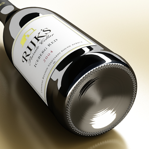 6 vínflaska og 6 víngleraugu 3d líkan 3ds max fbx obj 145710