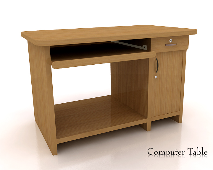 computer desk one 3d model 3ds max obj 115301