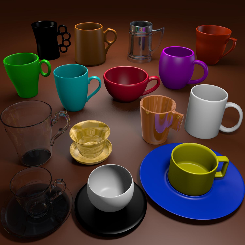 puodelio paketas 3d modelis mišinys obj 116261
