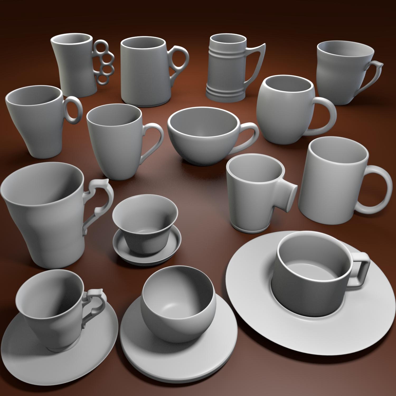 cup pack 3d model blend obj 116262