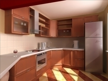 italy kitchen design 3d model lwo 79365